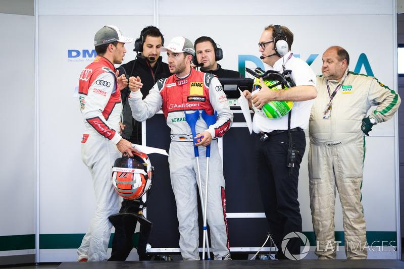 Loic Duval, Audi Sport Team Phoenix, Audi RS 5 DTM y Mike Rockenfeller, Audi Sport Team Phoenix, Aud