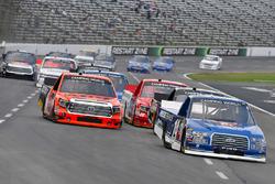 Austin Cindric, Brad Keselowski Racing Ford and Cody Coughlin, ThorSport Racing Toyota