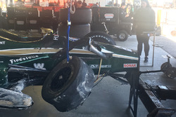 Unfallauto von J.R. Hildebrand, Ed Carpenter Racing, Chevrolet