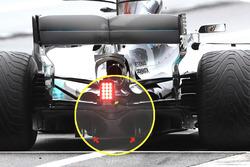 Mercedes F1 W08, diffusore