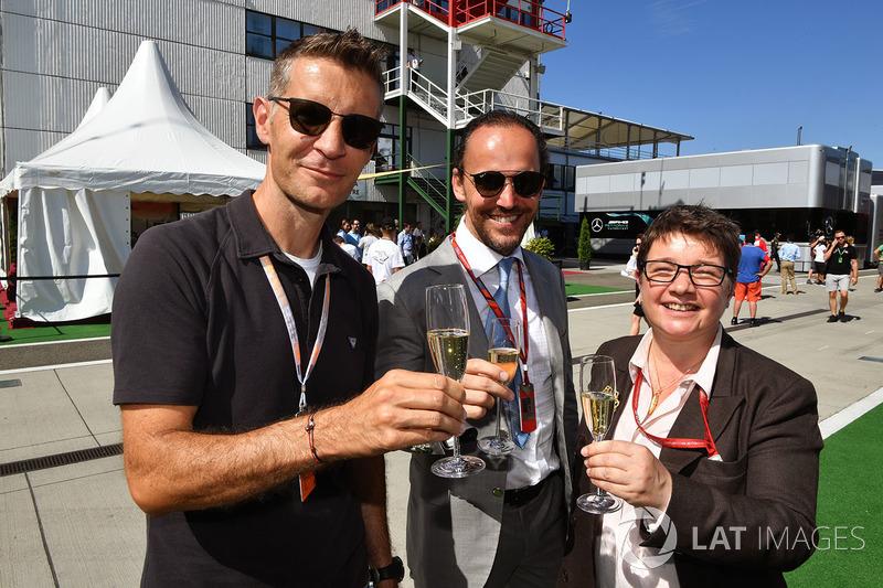 Ted Dobrzynski, Alex Molina, Allsport Management y Kate Beavan, FOM
