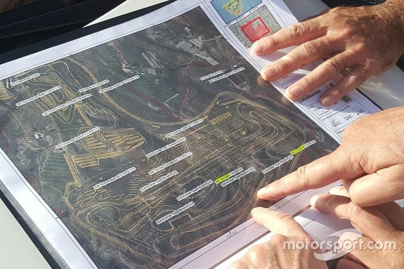 Plan für den Circuito de Tenerife auf Teneriffa