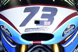 The bike of Alex Marquez, Marc VDS carrying Hayden's 69 number
