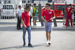 Charles Leclerc, Ferrari Driver Academy and Antonio Fuoco, Ferrari Driver Academy
