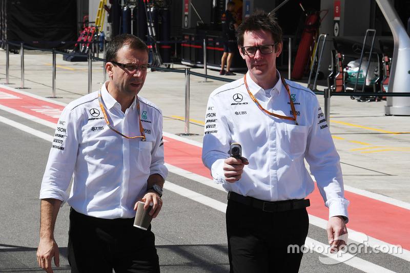 Andy Shovlin, Teknisi Mercedes AMG F1
