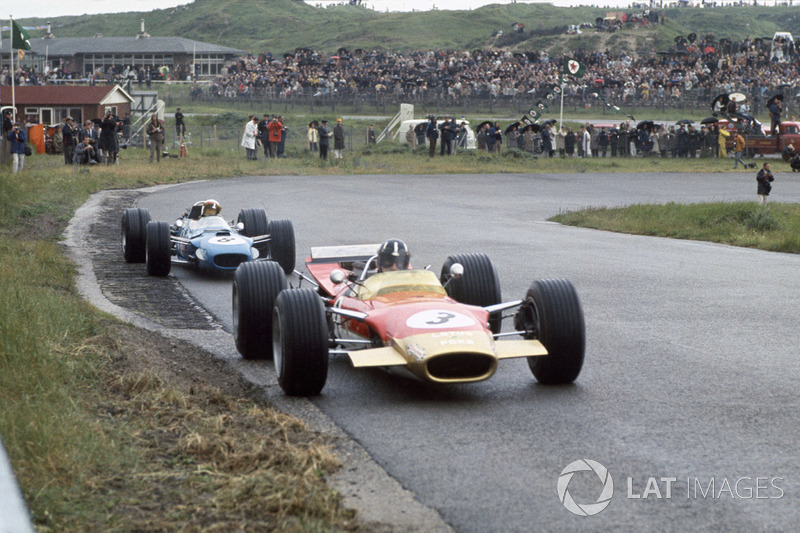 Graham Hill, Lotus 49B-Ford, Jackie Stewart, Matra MS10-Ford