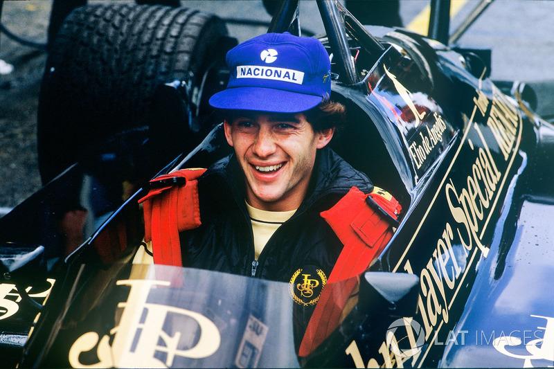 Айртон Сенна у Lotus 97T-Renault Еліо де Анджеліса