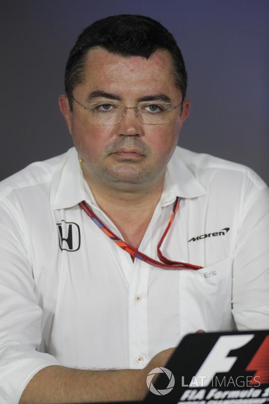 إريك بولييه، مدير التسابق بفريق مكلارين