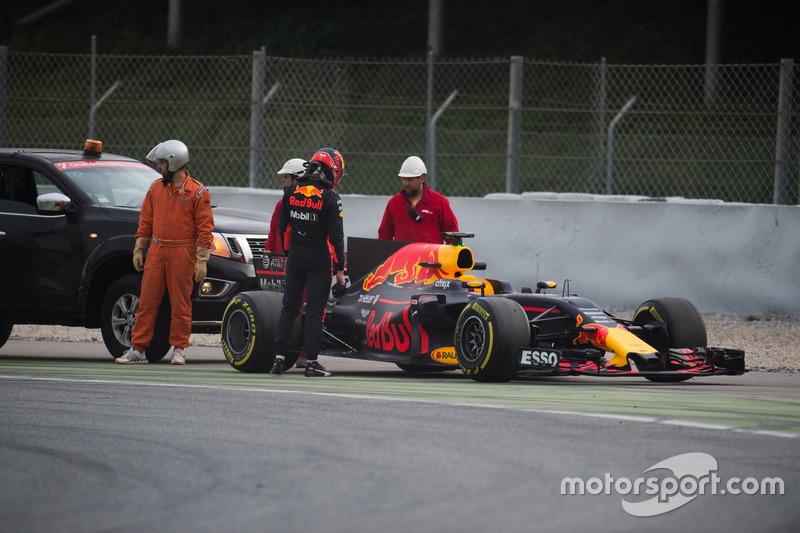 Defekt: Max Verstappen, Red Bull Racing RB13