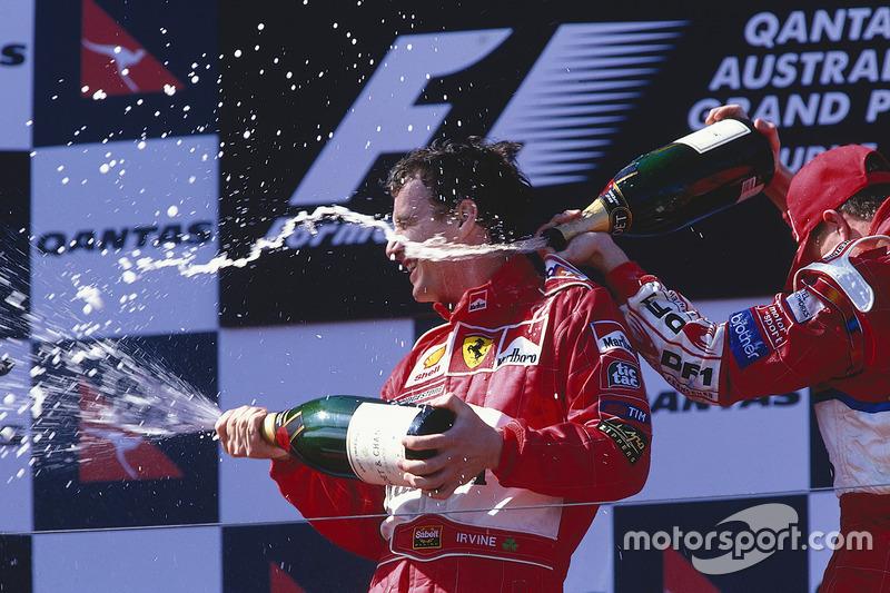 1999. Подіум: 1. Едді Ірвайн, Ferrari. 2. Хайнц-Харальд Френтцен, Jordan Mugen-Honda. 3. Ральф Шумахер, Williams Supertec