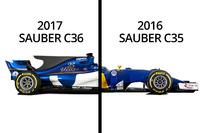 Vergleich: Sauber C35 von 2016 und C36 von 2017