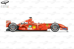 Ferrari F2001 (652) 2001 side view