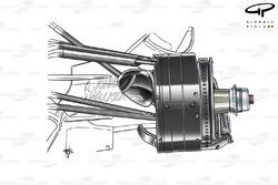 McLaren MP4-22 2007 front brake detail