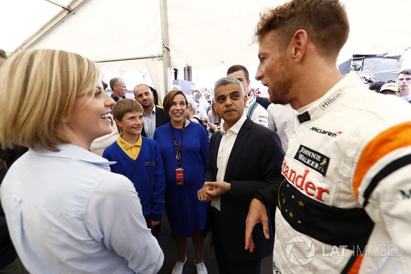 Сьюзі Вольфф, Channel 4 F1, Клер Вілльямс, Williams, мер Лондона Садік Хан, Дженсон Баттон, McLaren, діти