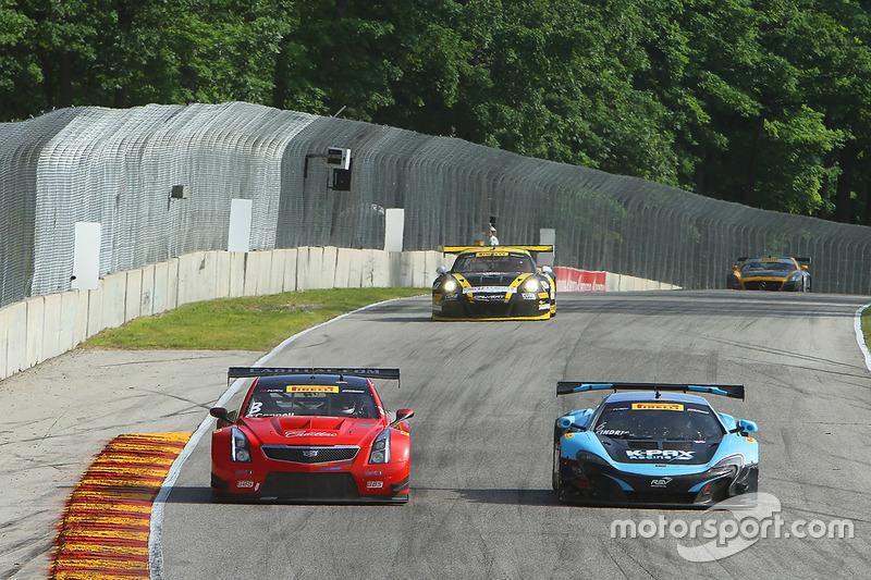 #3 Cadillac Racing Cadillac ATS-VR GT3: Johnny O'Connell, #6 K-Pax Racing McLaren 650S GT3: Austin Cindric