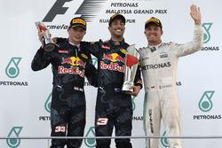 Podium: race winner Daniel Ricciardo, Red Bull Racing, second place Max Verstappen, Red Bull Racing, third place Nico Rosberg, Mercedes AMG F1
