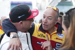 Rob Huff, Honda Racing Team JAS, en Tom Coronel, Roal Motorsport