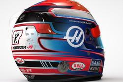 Casco de Romain Grosjean con homenaje a Jules Bianchi