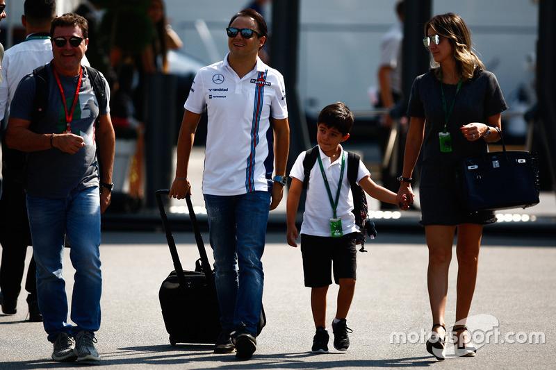 Felipe Massa, Williams with Family