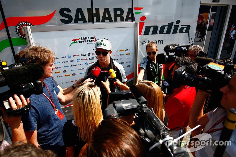 Nico Hulkenberg, Sahara Force India medya ile