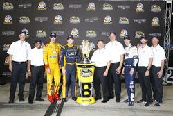 Les pilotes Ford dans le Chase, Joey Logano, Team Penske, Chris Buescher, Front Row Motorsports, Brad Keselowski, Team Penske