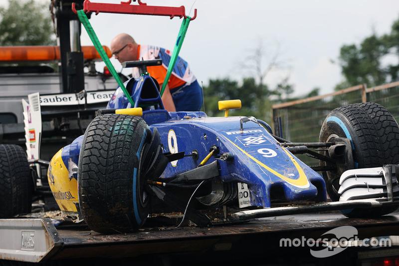 22: Marcus Ericsson, Sauber F1 Team (start vanuit de pitstraat)