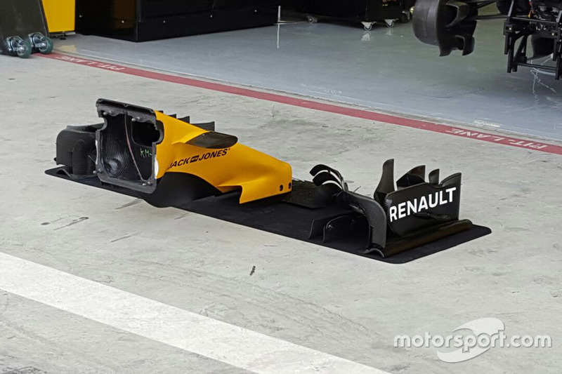 Renault Sport F1 Team RS16, Frontflügel-Detail