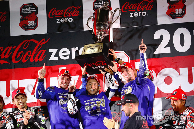 Podium: 1. #21 Yamaha Factory Racing Team
