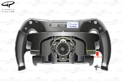Mercedes W07 steering wheel paddles distance