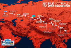 Die Route der Silk-Way-Rallye 2017
