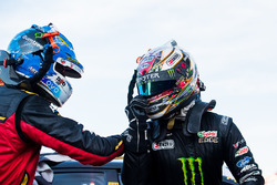 Chaz Mostert, Rod Nash Racing Ford, Cameron Waters, Prodrive Racing Australia Ford