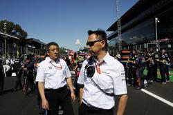 Masashi Yamamoto, Honda Boss and Yusuke Hasegawa, Head of Honda Motorsport