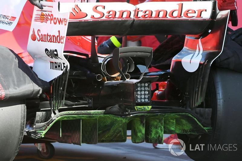 Charles Leclerc, Ferrari SF70H, Flow-Viz-Farbe am Diffusor