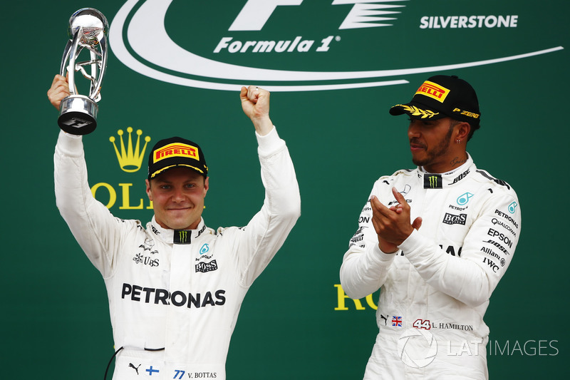 Ganador Lewis Hamilton, de Mercedes AMG F1, segundo lugar Valtteri Bottas, Mercedes AMG F1
