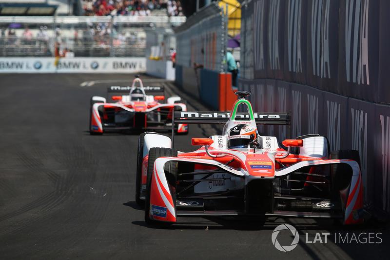 Felix Rosenqvist, Mahindra Racing y Nick Heidfeld, Mahindra Racing