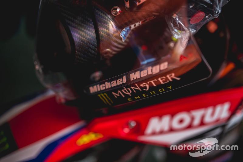 Casco de  #15 Monster Energy Honda Team: Michael Metge