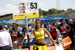 Grid girl of Jamie Green, Audi Sport Team Rosberg, Audi RS 5 DTM