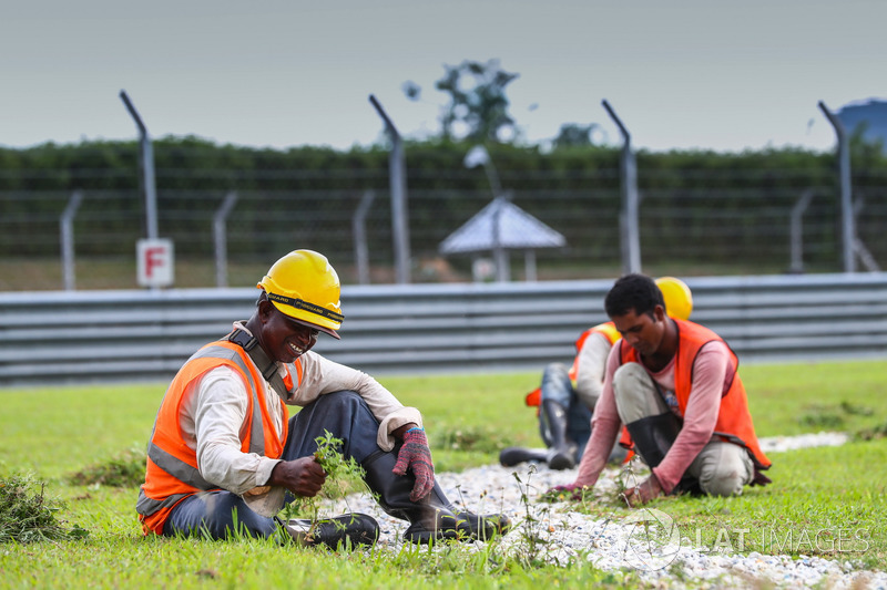 Track workers