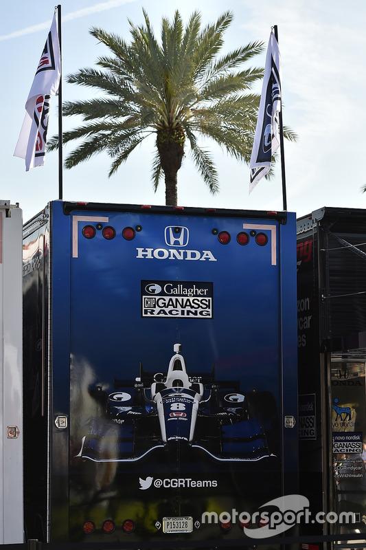 Max Chilton, Chip Ganassi Racing Honda Transporter