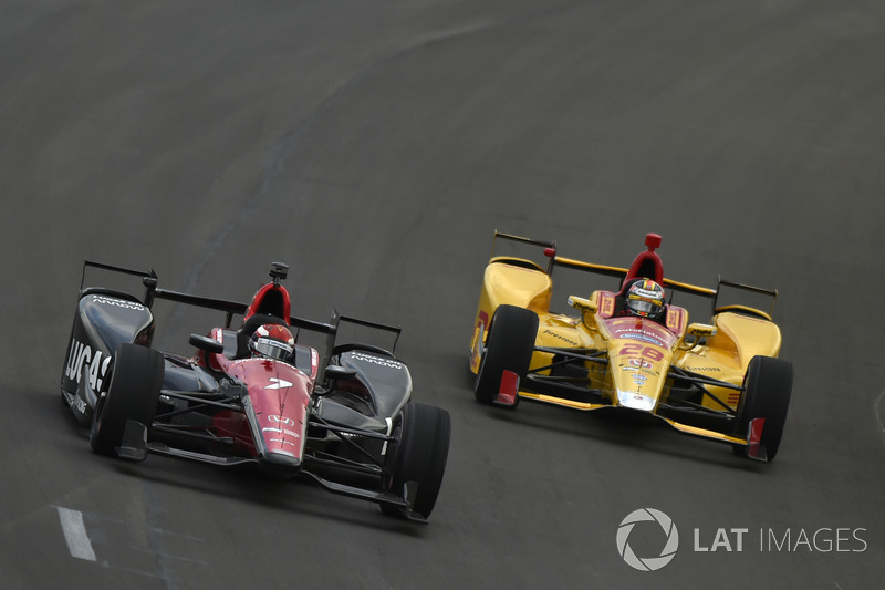 Михаил Алешин, Schmidt Peterson Motorsports Honda, и Райан Хантер-Рей, Andretti Autosport Honda