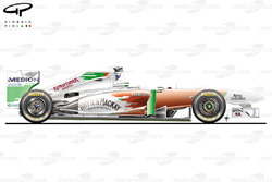 Force India VJM04 side view, British GP