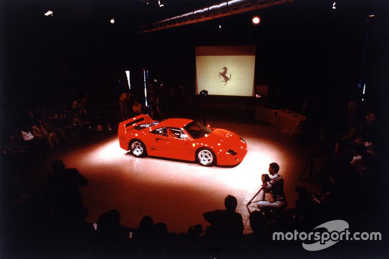 Präsentation des Ferrari F40 am 21. Juli 1987