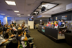 Press Conference with Sebastian Vettel, Travis Pastrana, Pascal Wehrlein, Tom Kristensen, Gabby Chaves, Juan Pablo Montoya, Ryan Hunter-Reay, Alexander Rossi, Scott Speed, Stefan Rzadzinski