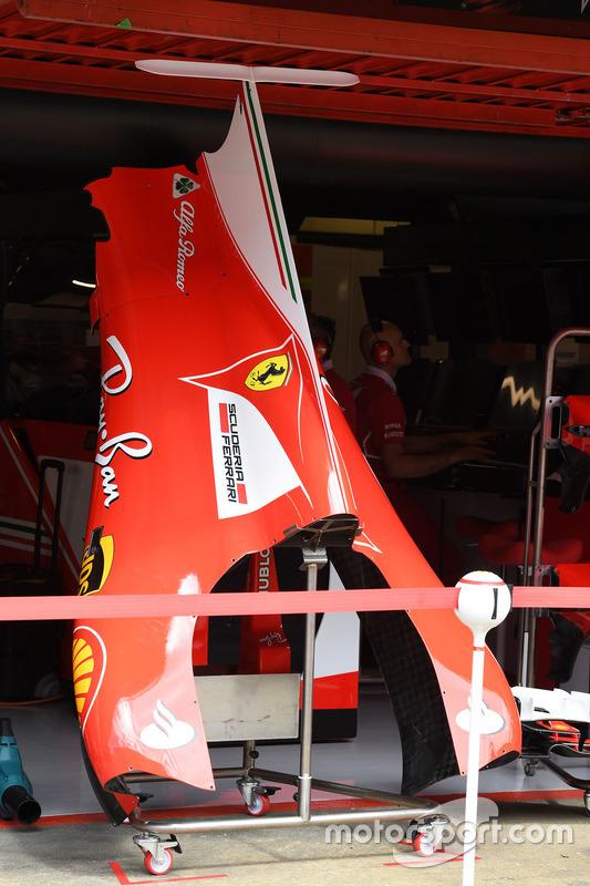 Фрагмент оперения Ferrari SF70H