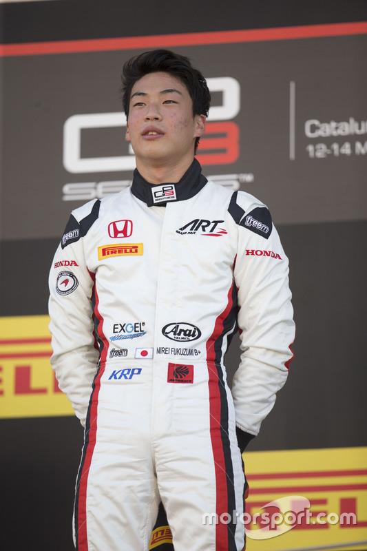 Podium: race winner Nirei Fukuzumi, ART Grand Prix