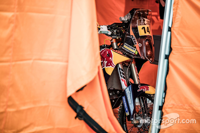The bike of #14 Red Bull KTM Factory Racing: Sam Sunderland