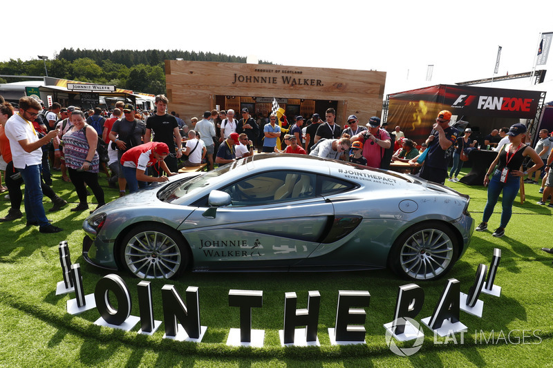 McLaren MP4-12C on the Johnnie Walker stand in the F1 Fanzone