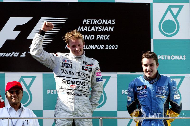 Primer podio: GP de Malasia 2003