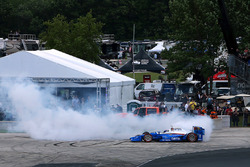 Le vainqueur Scott Dixon, Chip Ganassi Racing Honda