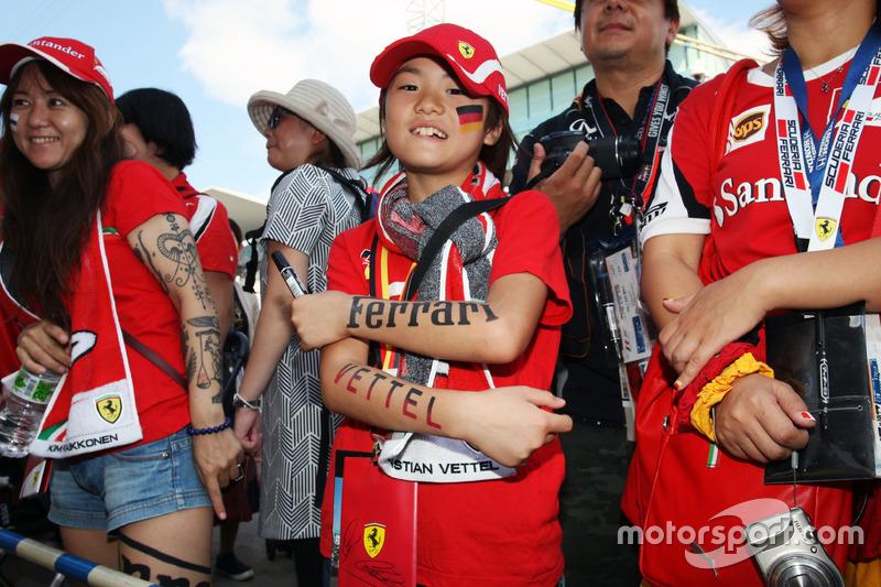 A Sebastian Vettel, Ferrari fan